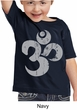 Kids Yoga Shirt Grey Distressed OM Toddler Tee T-Shirt