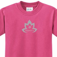 Kids Yoga Shirt Grey Namaste Lotus Tee T-Shirt