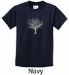 Kids Yoga Shirt Grey Tree of Life Youth Tee T-shirt