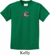 Kids Yoga Shirt Hippie Sun Patch Middle Print Tee T-Shirt