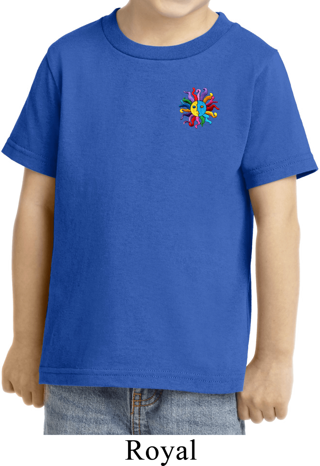Kids Yoga Shirt Hippie Sun Patch Pocket Print Toddler Tee
