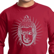 Kids Yoga Shirt Iconic Buddha Long Sleeve Tee T-Shirt