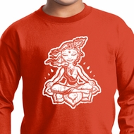 Kids Yoga Shirt Krishna Long Sleeve Tee T-Shirt