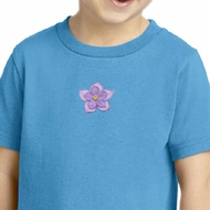 Kids Yoga Shirt Layered Flower Patch Toddler Tee T-Shirt
