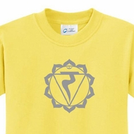Kids Yoga Shirt Manipura Chakra Meditation Youth T-shirt