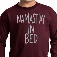 Kids Yoga Shirt Namastay In Bed Long Sleeve Tee T-Shirt