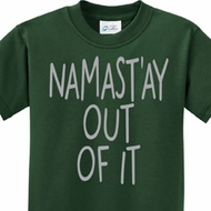 Kids Yoga Shirt Namastay Out Of It Tee T-Shirt