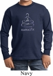 Kids Yoga Shirt Namaste Lotus Pose Long Sleeve Tee T-Shirt