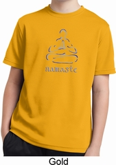 Kids Yoga Shirt Namaste Lotus Pose Moisture Wicking Tee T-Shirt