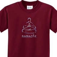Kids Yoga Shirt Namaste Lotus Pose Tee T-Shirt