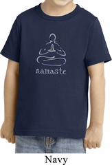 Kids Yoga Shirt Namaste Lotus Pose Toddler Tee T-Shirt