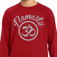 Kids Yoga Shirt Namaste Om Dry Wicking Long Sleeve Tee T-Shirt