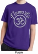 Kids Yoga Shirt Namaste Om Moisture Wicking Tee T-Shirt