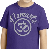 Kids Yoga Shirt Namaste Om Toddler Tee T-Shirt