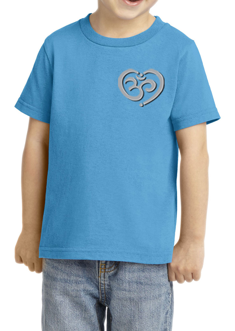 kids yoga shirt om heart pocket print toddler tee t shirt