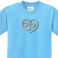 Kids Yoga Shirt OM Heart Tee T-Shirt