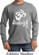 Kids Yoga Shirt OM Mani Padme Hum Long Sleeve Tee T-Shirt