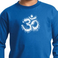 Kids Yoga Shirt OM Tie Dye Long Sleeve Tee T-Shirt