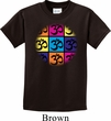 Kids Yoga Shirt Pop Art Om Tee T-Shirt