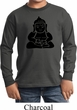 Kids Yoga Shirt Shadow Buddha Long Sleeve Tee T-Shirt
