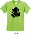 Kids Yoga Shirt Shadow Ganesha Tee T-Shirt