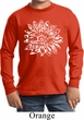 Kids Yoga Shirt Sketch Lotus Long Sleeve Tee T-Shirt