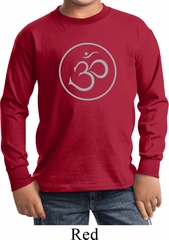 Kids Yoga Shirt Thin OM Long Sleeve Tee T-Shirt