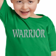 Kids Yoga Shirt Warrior Text Toddler Tee T-Shirt