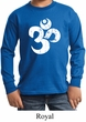 Kids Yoga Shirt White Distressed OM Long Sleeve Tee T-Shirt