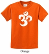 Kids Yoga Shirt White Distressed OM Tee T-Shirt