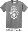 Kids Yoga Shirt White Hamsa Tee T-Shirt
