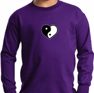 Kids Yoga Shirt Yin Yang Heart Small Print Long Sleeve Tee T-Shirt
