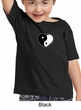 Kids Yoga Shirt Yin Yang Heart Small Print Toddler Tee T-Shirt