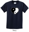 Kids Yoga Shirt Yin Yang Heart Tee T-Shirt