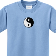 Kids Yoga Shirt Yin Yang Patch Small Print Tee T-Shirt
