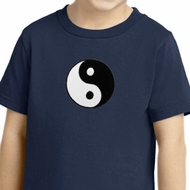 Kids Yoga Shirt Yin Yang Patch Small Print Toddler Tee T-Shirt