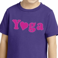 Kids Yoga Shirt Yoga Heart Neon Toddler Tee T-Shirt
