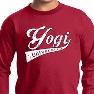 Kids Yoga Shirt Yogi University Long Sleeve Tee T-Shirt