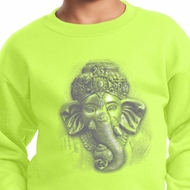 Kids Yoga Sweatshirt 3D Ganesha Lights Sweat Shirt
