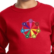 Kids Yoga Sweatshirt 7 Chakra Circle Sweat Shirt