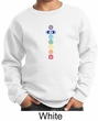 Kids Yoga Sweatshirt 7 Colored Chakras Youth Sweat Shirt