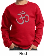 Kids Yoga Sweatshirt Aum Symbol Meditation Youth Sweat Shirt