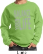 Kids Yoga Sweatshirt Balance Your Life Sweat Shirt