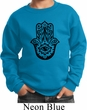 Kids Yoga Sweatshirt Black Hamsa Sweat Shirt