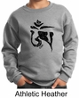 Kids Yoga Sweatshirt Black Tibetan Om