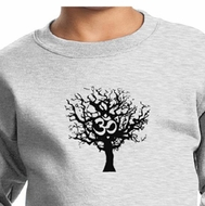 Kids Yoga Sweatshirt Black Tree of Life Youth Sweat Shirt