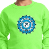 Kids Yoga Sweatshirt Blue Vishuddha Sweat Shirt