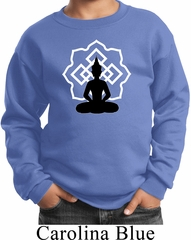 Kids Yoga Sweatshirt Buddha Lotus Pose Youth Sweat Shirt