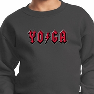 Kids Yoga Sweatshirt Classic Rock Yoga Sweat Shirt