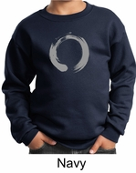 Kids Yoga Sweatshirt Enso Zen Meditation Youth Sweat Shirt